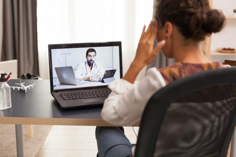 Video conference with doctor